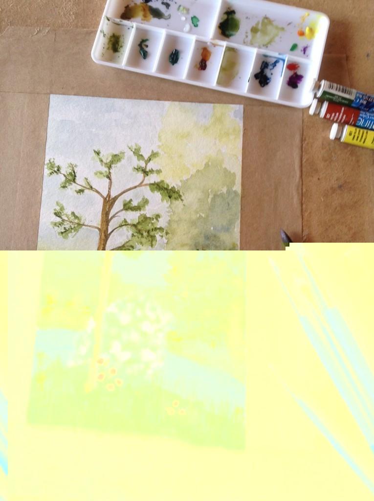 Art workshop at Shrewsbury Cottages