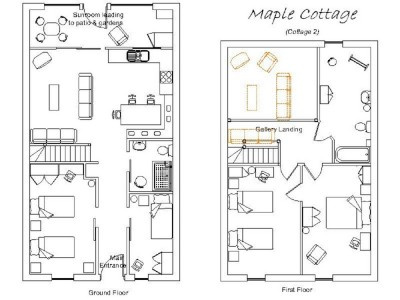 disabled holiday cottages, maple cottage floorplan